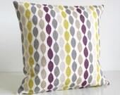 Purple and Citrus Pillow Cover, Decorative Pillow Cover, Cushion Cover, Pillow Sham, Pillowcase - Gemstone Aubergine
