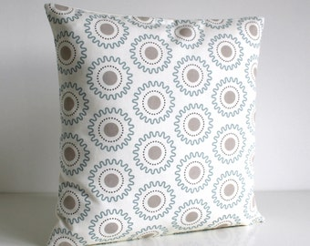 Geometric Pillow Cover, Accent Pillow, Cushion Cover, Geometric Pillow Sham, Sofa Pillow, Pillowcase - Cogs Pale Blue