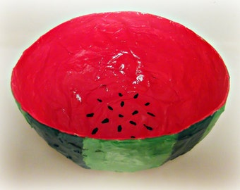 paper mache watermelon Quick answer depicting the earth's layers as a 3-d model can be done using paper mache, or in a fun, edible cake form however, using modeling or baker's clay are more common methods.
