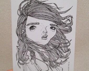 Typhoon Hair Postcard