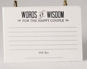 Alternative Wedding Guest Book set of 36 Advice Cards