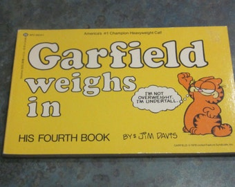 1982 First Edition Garfield Weighs In Book