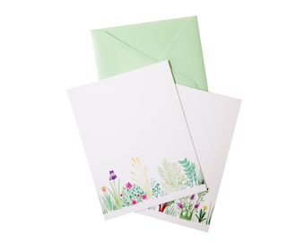 Garden Notecard set (two or six flat cards)