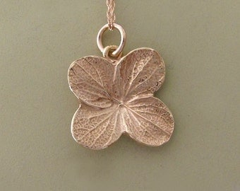 14k Rose Gold Flower Necklace - Hydrangea - Last Minute Gift
