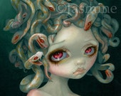 Pale Medusa art print by Jasmine Becket-Griffith 8x10 albino snakes greek mythology gorgon myths