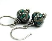 Lampwork Earrings - Galaxy
