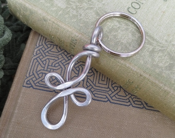 Long Celtic Cross Key Chain, Aluminum Cross Keychain Father's Day Key Ring, Stocking Stuffer Men, Confirmation Gift, Communion, Christian