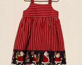 Santa Border Dress Size 4