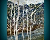 Original Landscape Textured Tree Painting  20X16 Gallery Wrapped - No Need to Frame Sides Painted