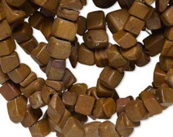 Rich Earthy Tigerskin Jasper Chip Beads Full 34""