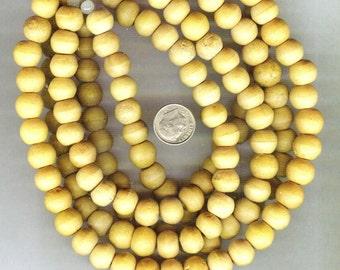 NEW 12mm Unique Matte Nangka Round Wood Beads 12 pcs