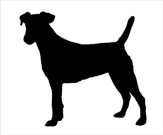 Jack Russell Silhouette Wall Decal By Wilsongraphics On Etsy