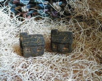 Log Cabin Silicone Soap Mold Primitive House Woodland Cabin DIY Craft Molds Glycerin Melt Pour Soap