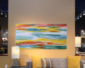 Abstract Original Painting 12 x 24 by Artist Debra Alouise