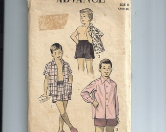 Advance Boy's Short Shirt and Shorts Pattern 7070