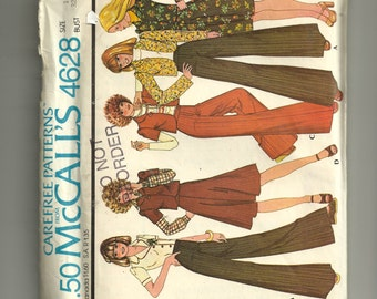 McCall's Misses' and Junior Jacket, Skirt and Pants Pattern 4628