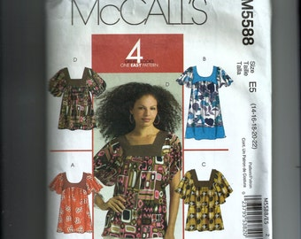 McCall's Misses' Tops and Tunic Pattern M5588