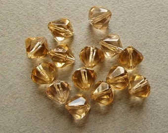 Vintage champagne bicone beads