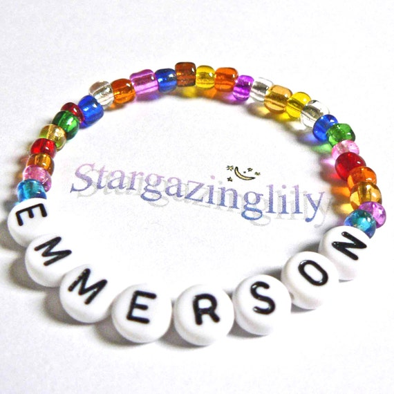 PERSONALIZED Childs Name ID Bracelet Jewelry Gift makes a great Party Favor Stocking Stuffer Small Trinket Gift