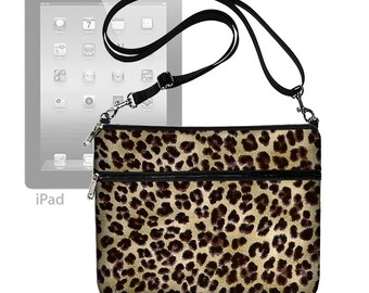 Leopard iPad Bag iPad Air 2 Case iPad Cover iPad Sleeve iPad 4 3 2 1 adjustable shoulder strap Cheetah Animal Print MTO