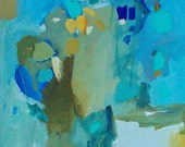 Giclee print abstract painting Island pamela munger turquoise