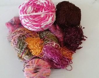 YARN - pink yarn, mohair yarn, great for scarves, trim