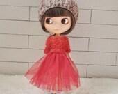 Babydoll Pom-Pom Hat for Blythe Doll-Latte