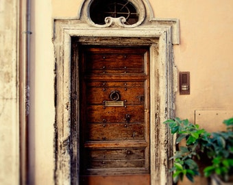 door photography, rome italy photography, wooden door, architecture, travel photography, rustic decor, brown decor, europe art R07