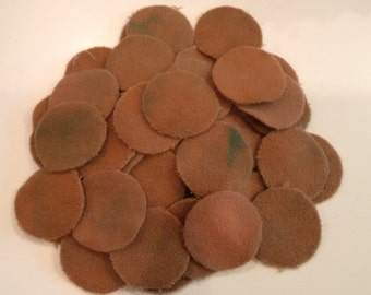 Grubby 50 - 1.5 inch Wool Penny Rug Circles