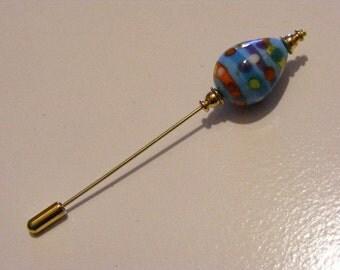 Lampwork Glass Decorated Egg Stick Pin.........Lot 137