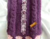 Made to measure - warm winter pet  hand knitted  alpaca wool sweater
