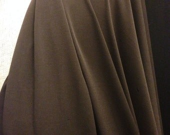 Polyester Lycra Fabric 2 Yards Of Fabric (Brown)