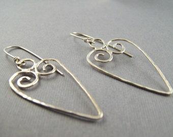 Spiral Heart Wire  Earrings 2