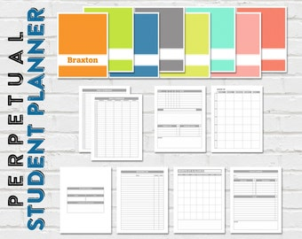 Printable Student Planner - No Dates - 8.5 x 11 - Instant Download