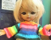 Rainbow striped shirt for Hujoo Baby or Jun Planning Ai