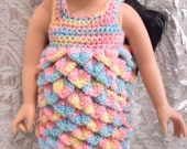 Candy Color Petal dress for American Girl, Journey Girl, Our Generation  size