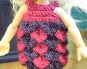Pink and purple petal dress for Pukifee dress & hat