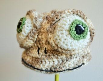 Crochet Oscar the Lizard Hat - Cartoon Costume Hat - Oscar's Oasis - Silly and Chunky Crochet Hat