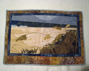 Sea Oats 2 Batik Quilted Wall Hanging