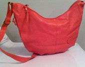Vintage deadstock large bubble gum pink slouchy handbag synthetic
