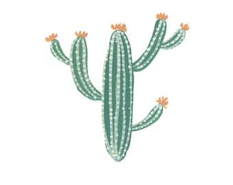 Cactus art print - archival fine art print - home decor