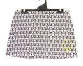 BBC Sherlock Holmes Benedict Cumberbatch Homage Damask Mini Skirt with Yellow Graffiti Smiley Face, Comicon, size Small, Ready to ship