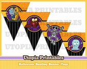 Halloween bunting banner flags