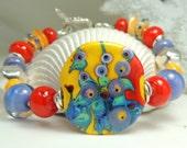 FOXGLOVE PURPLE Handmade Lampwork Bead Bracelet