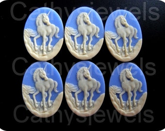 Unicorn Portrait Cameo Set Of Six 25x18