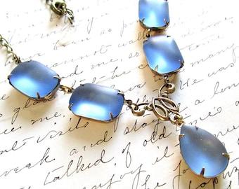 sea glass necklace, downton abbey jewelry, georgian jewelry, 1920s necklace, vintage necklace, downtown abbey jewelry.