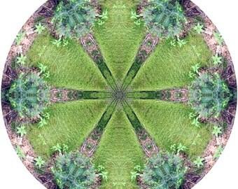 Mandala Art, Meditation Art, Peaceful Geometric Art Print, Nature Inspired Abstract Art Print in Chartreuse Green