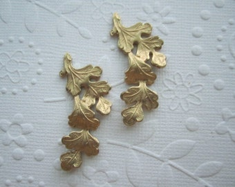 Oak Leaf Cluster Brass Stamping on Etsy x Quantity Choice