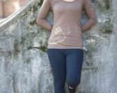 dusty earth - organic cotton Om and Cherry Blossom yoga long sleeve