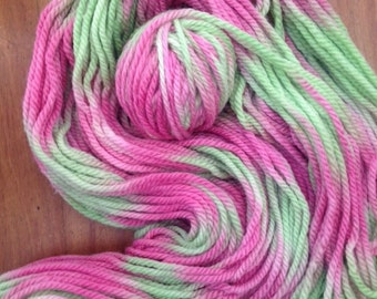 """Hand Painted Yarn 16ply pure wool called """"Toffee Apple"""""""